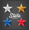 stars colorful collection design on black vector image vector image