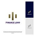 stats financial advisors logo design concept vector image