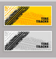 tire tracks banners grunge background vector image vector image