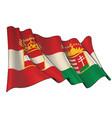 waving flag austria vector image vector image