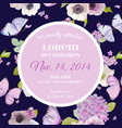wedding invitation baby shower template card vector image