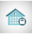weight scale hospital building icon vector image vector image