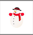 snowman isolated and cartoon style vector image