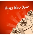 New year card concept vector image