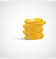 a stack of gold coins isolated on white background vector image vector image