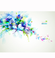 abstract composition with tender flowers vector image vector image