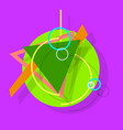 abstract flat icon with long shadow vector image vector image