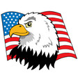 american eagles head with flag vector image