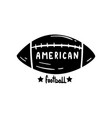 american football ball hand drawn retro design vector image vector image