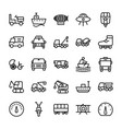automobile line icons 3 vector image vector image