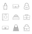 bags for all occasions icon set outline style vector image vector image