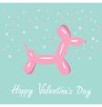 balloon dog valentines day flat design