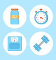 bcaa vitamin and timer set vector image vector image