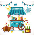beer festival tent with goods vector image