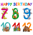 birthday card designs vector image