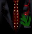 black festive suit vector image vector image