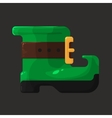 Boots of leprechaun for St Patricks Day icon vector image vector image