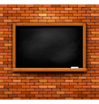 Brick wall with a blackboard vector image vector image