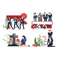 burring and interment funeral ceremony on vector image