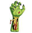 cartoon green zombie hands on white background vector image vector image