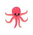 cartoon octopus character with angry face vector image