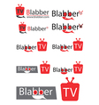 Chating tv or television logo for website vector image vector image