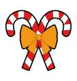 christmas canes decorative icon vector image vector image