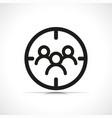 customer target icon symbol vector image