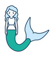 cute smiling mermaid ico vector image