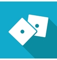 dice icon Eps10 vector image vector image