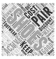 discount running shoes Word Cloud Concept vector image vector image
