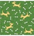 Dogs with bones seamless background vector image