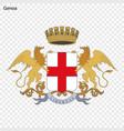 emblem of genoa vector image vector image