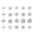 facet stars vector image vector image