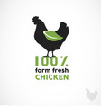 farm fresh chicken vector image