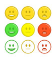 feedback emoticon icons vector image vector image