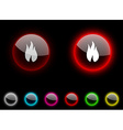 Fire button vector image