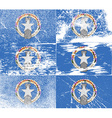 Flag of Mariana Islands with old texture vector image