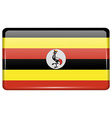 Flags Uganda in the form of a magnet on vector image vector image