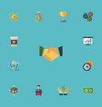 flat icons agreement show championship and other vector image vector image