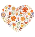 Floral heart card vector image vector image