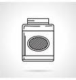 Gainer jar black line icon vector image vector image