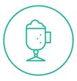 Glass mug with foam line icon vector image