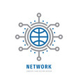 global network concept business logo design vector image
