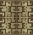 gold checkered abstract old celtic style greek 3d vector image vector image