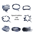 hand drawn bubble speech and stroke vector image vector image