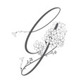 hand drawn floral g monogram and logo vector image vector image
