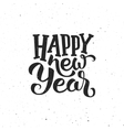 Happy New Year vintage greeting card vector image vector image