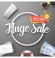 huge sale poster vector image vector image