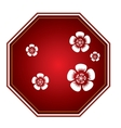 Isolated chinese label vector image vector image